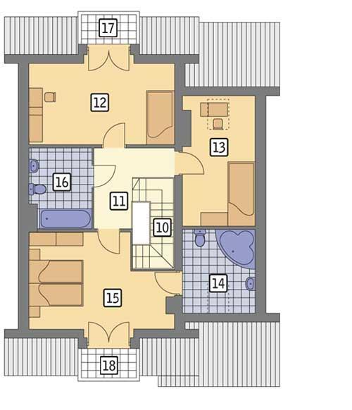 Rzut poddasza POW. 87,3 m²