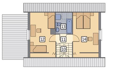 Rzut poddasza POW. 39,6 m²