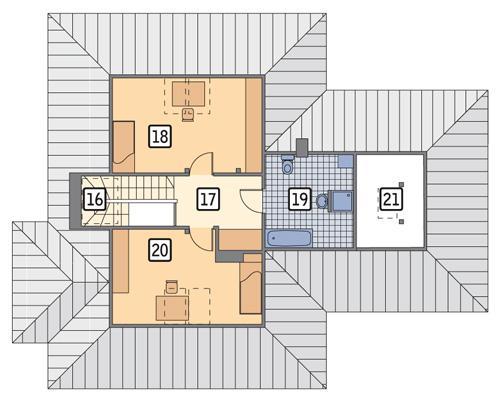 Rzut poddasza POW. 73,1 m²