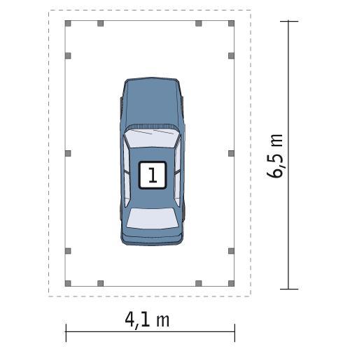 Rzut parteru POW. 27,1 m²