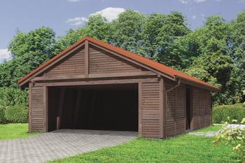 Wiata garażowa z pomieszczeniem gospodarczym