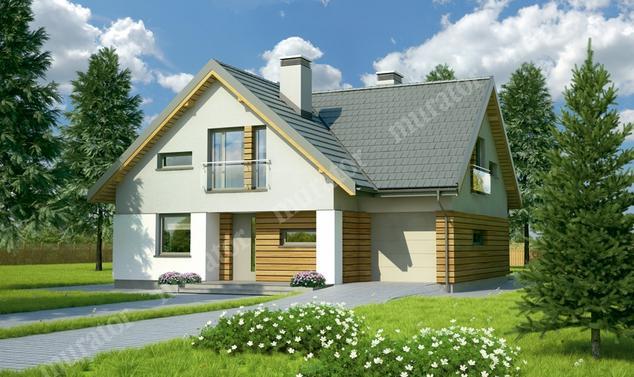 Projekt domu:  Murator M136   – Kwitnąca łąka
