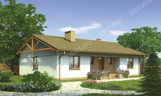 Projekt domu:  Murator M72a   – Zielony ogród - wariant I